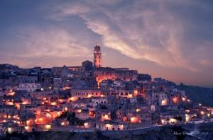 Sassi_di_Matera al tramonto
