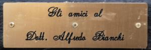 Alfredo Bianchi - Panchina